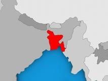 Carte du Bangladesh Image stock
