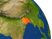 Carte du Bangladesh en rouge Photo libre de droits