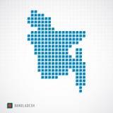 Carte du Bangladesh et icône de drapeau illustration libre de droits