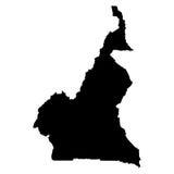Carte du Cameroun sur le fond blanc Image libre de droits