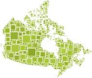 Carte du Canada Image stock