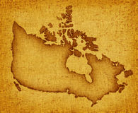 Carte du Canada Photo libre de droits