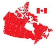 Carte du Canada Photographie stock