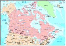 Carte du Canada Photographie stock