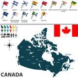Carte du Canada Image libre de droits