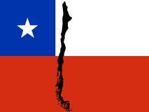 Carte du Chili illustration stock