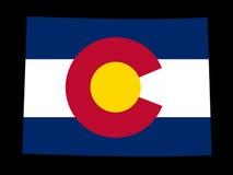 Carte du Colorado illustration stock