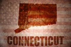 Carte du Connecticut de vintage photo stock