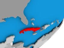 Carte du Cuba illustration de vecteur