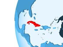 Carte du Cuba illustration libre de droits