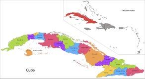 Carte du Cuba illustration stock