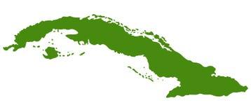Carte du Cuba - république de Cuba illustration stock