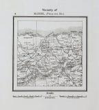 Carte du Cuba Rétro et vieille image images stock