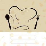 Carte du cuisinier Photo libre de droits