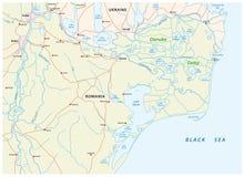 Carte du delta de Danube illustration de vecteur