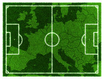 Carte du football l'Europe centrale Photographie stock libre de droits