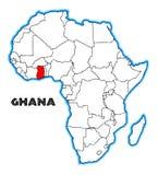 Carte du Ghana Afrique illustration libre de droits