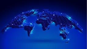 carte du globe 3D Photos stock