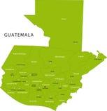 Carte du Guatemala de vecteur Images stock