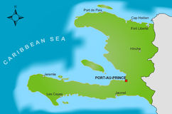 Carte du Haïti Images stock
