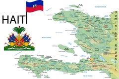 Carte du Haïti. Photographie stock libre de droits