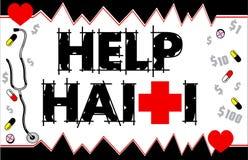Carte du Haïti Funraiser d'aide Photos libres de droits