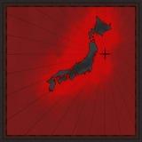 Carte du Japon illustration libre de droits