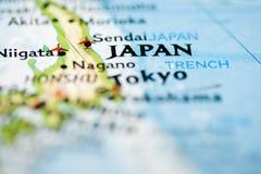 Carte du Japon photo stock