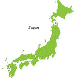 Carte du Japon Images libres de droits