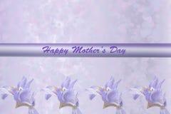 Carte du jour de mère d'iris Photographie stock