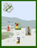 Carte du jour de père Image stock