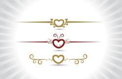 Carte du jour de Valentine Photographie stock