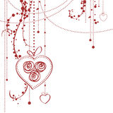 Carte du jour de Valentine Photo stock