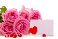 Carte du jour de Valentine Photographie stock libre de droits