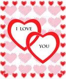 Carte du jour de Valentine Images libres de droits