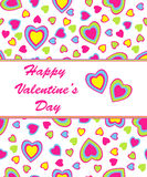Carte du jour de Valentine Photos libres de droits