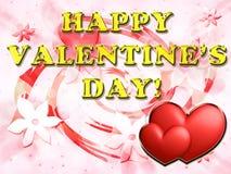 Carte du jour de Valentine Photo libre de droits