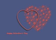 Carte du jour de Valentine Photos stock
