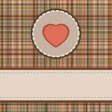Carte du jour de valentine de cru ENV 8 Image libre de droits