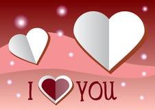 Carte du jour de Valentine Descripteur de conception de vecteur Photographie stock libre de droits