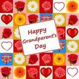 Carte du jour du grand-parent illustration stock