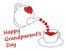 Carte du jour du grand-parent heureux, d'isolement sur un fond blanc illustration de vecteur