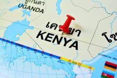 Carte du Kenya Images stock