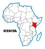 Carte du Kenya Afrique illustration stock