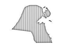 Carte du Kowéit sur le fer ondulé illustration libre de droits