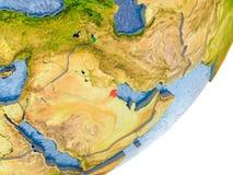 Carte du Kowéit sur terre Photographie stock libre de droits