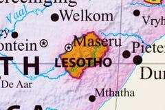 Carte du Lesotho images stock