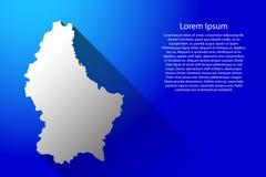 Carte du luxembourgeois d'Australie avec la longue ombre de gradient sur l'illustration bleue de vecteur de fond illustration stock