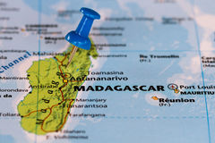 Carte du Madagascar Photographie stock