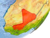 Carte du Mali sur terre Photographie stock